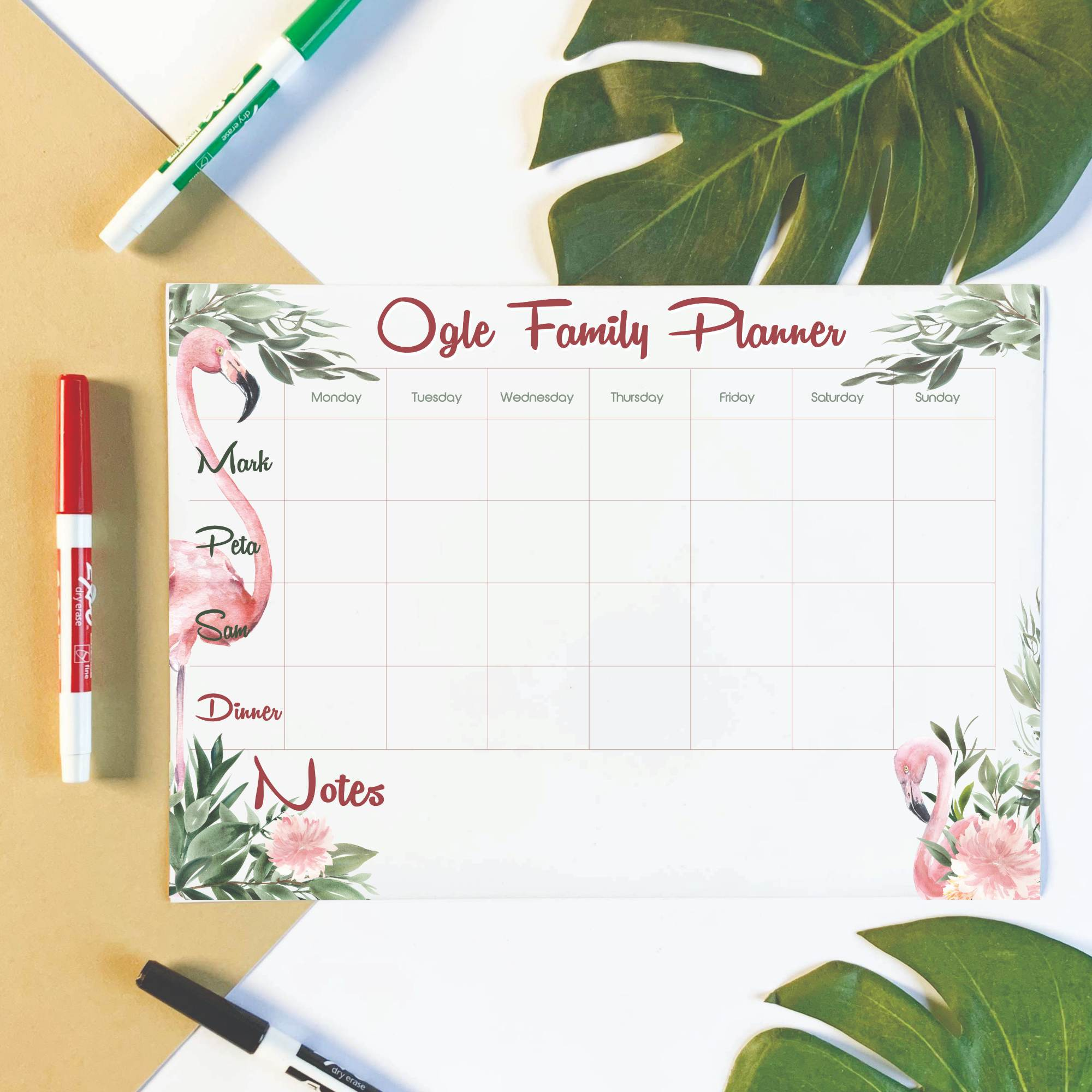 Personalised-Family-Organiser