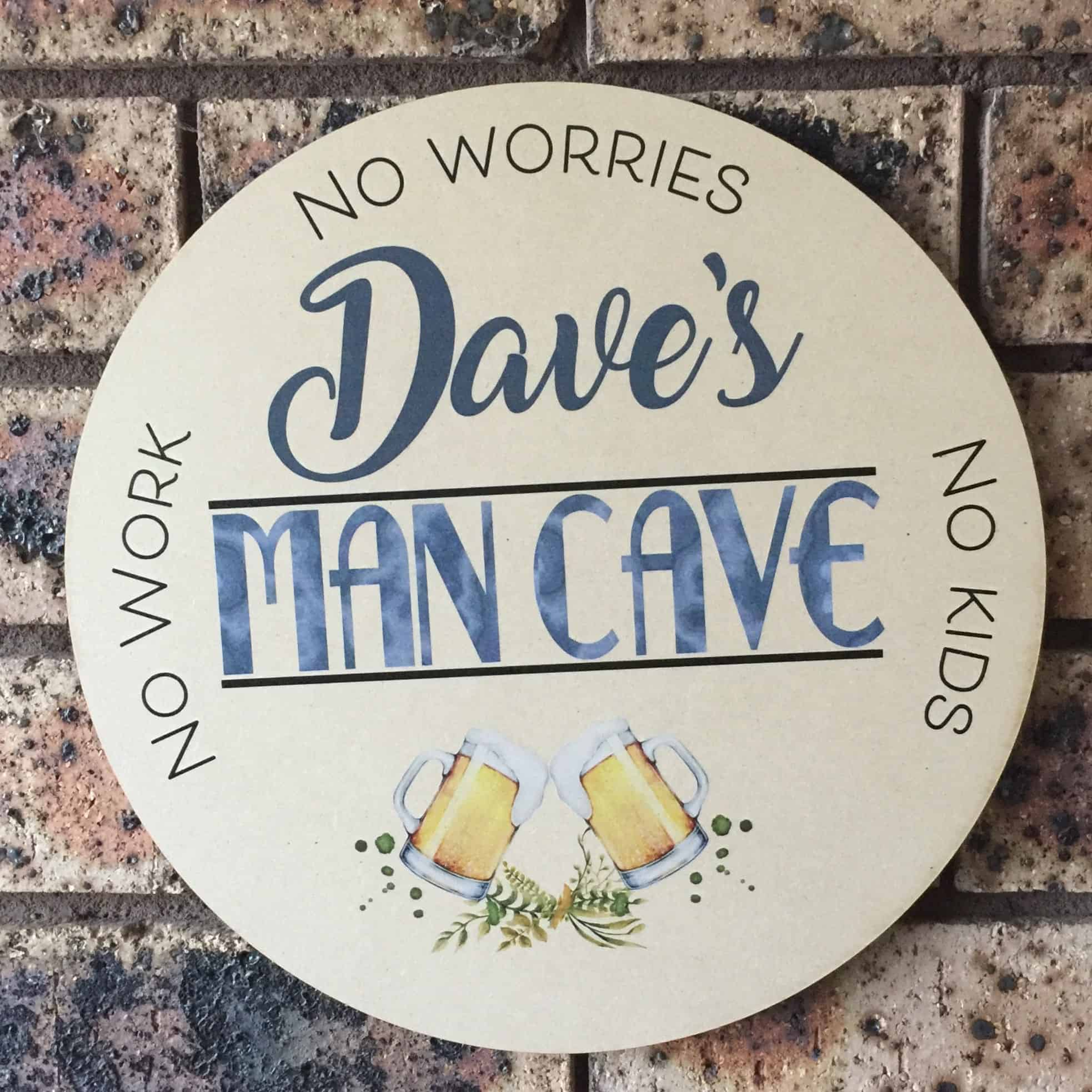 Custom Name Man Cave Sign Customised Man Cave Sign Man Cave Signs For Sale