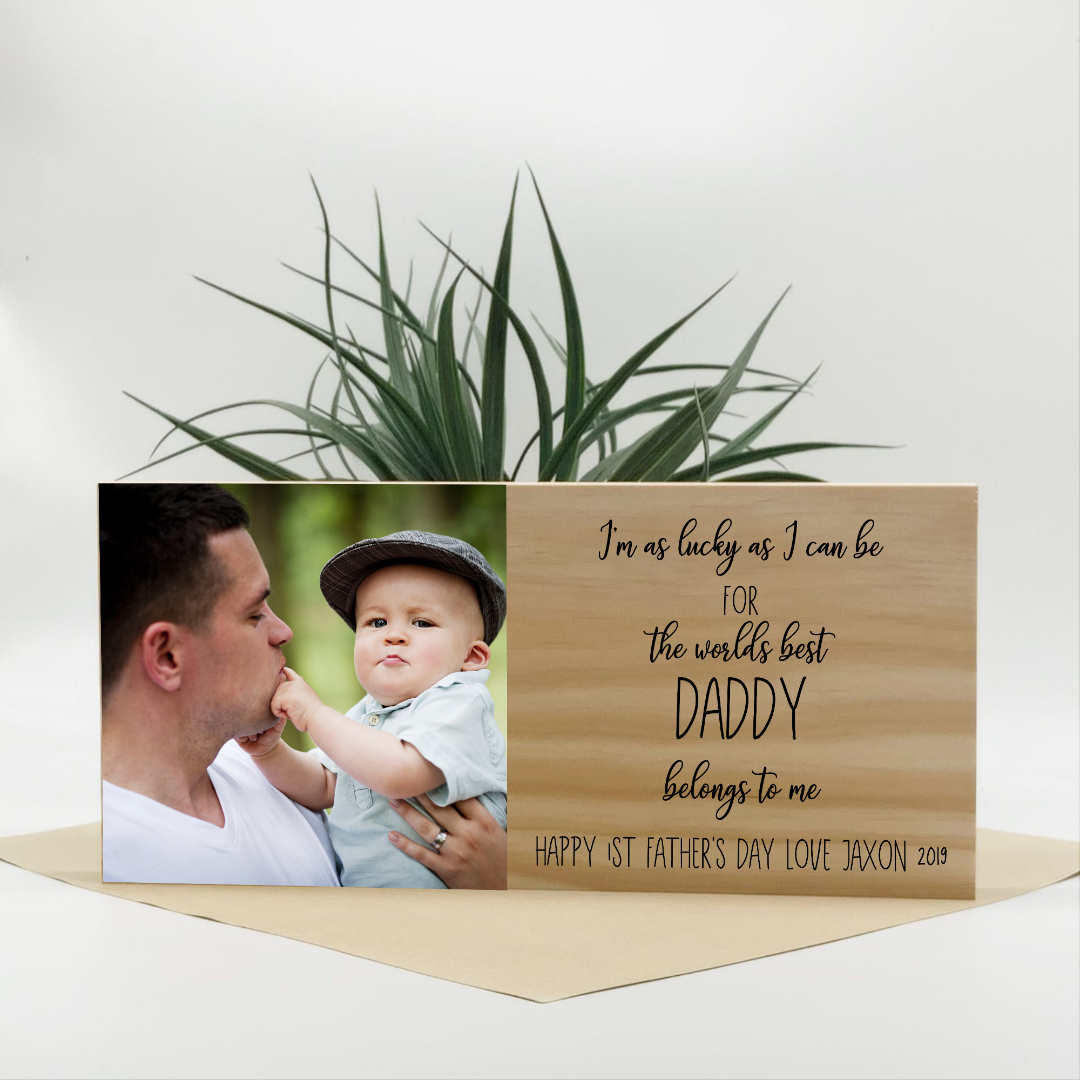 worlds best daddy photo block