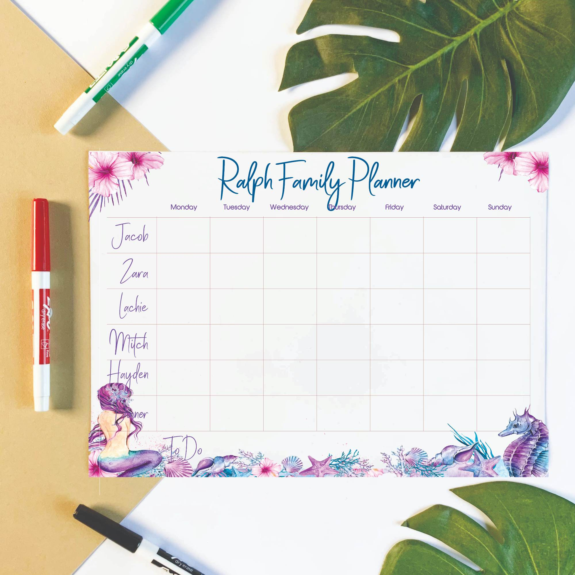 Personalised-Weekly-Planner