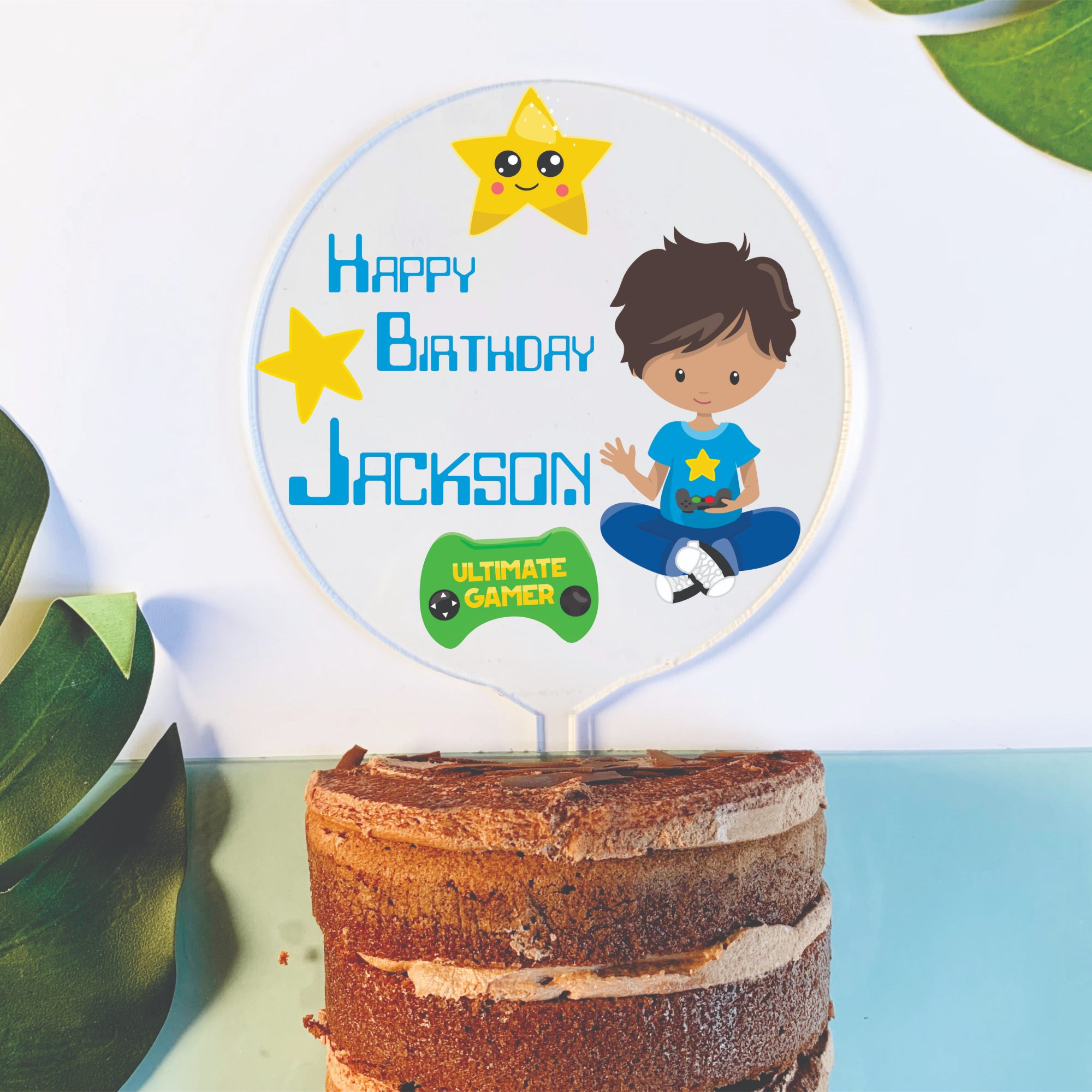 Super Video Game Cake Toppers Chain Valley Gifts Australia Funny Birthday Cards Online Inifofree Goldxyz