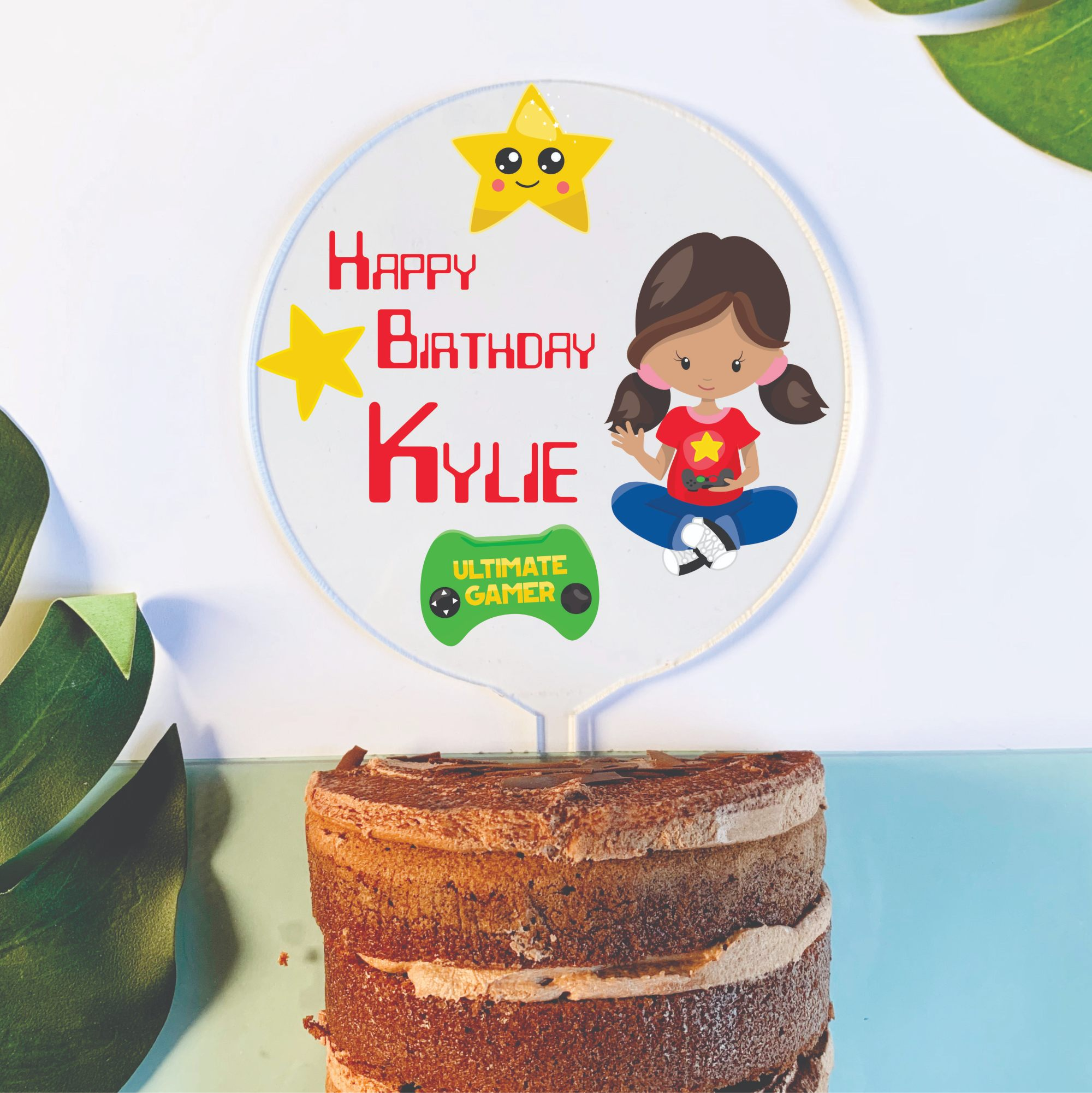 Excellent Gaming Cake Topper Chain Valley Gifts Australia Birthday Cards Printable Trancafe Filternl