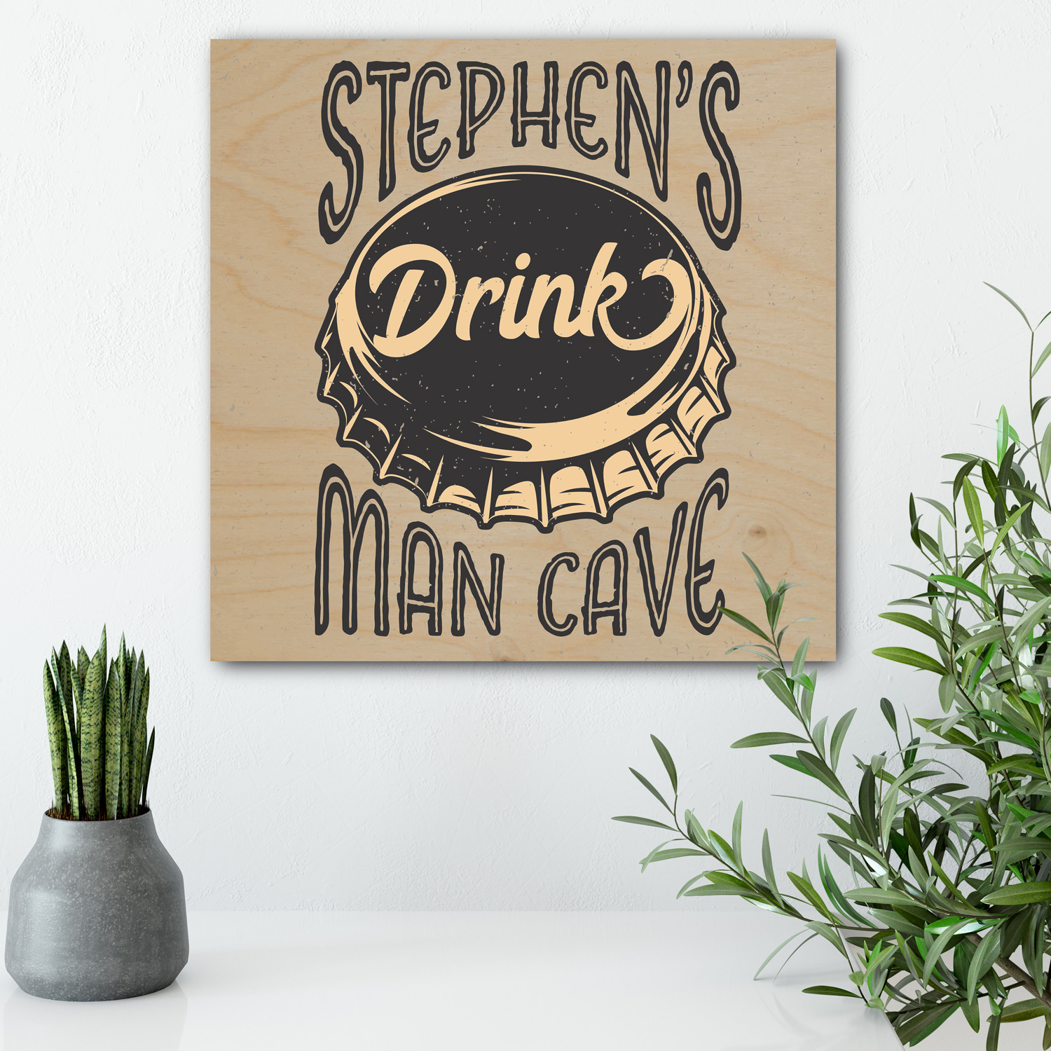 Personalised-Wooden-Man-Cave-Sign