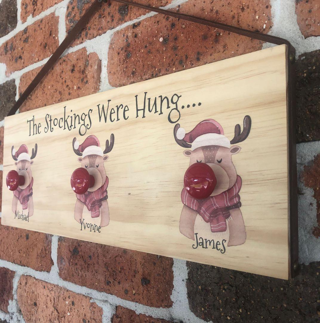 personalised stocking hanger