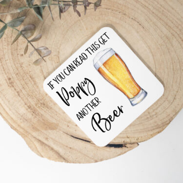 personalised coaster, beer coaster