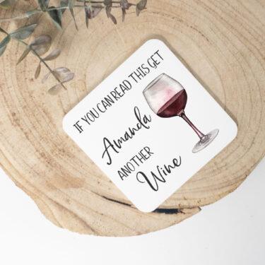 wine coaster, personalised coaster