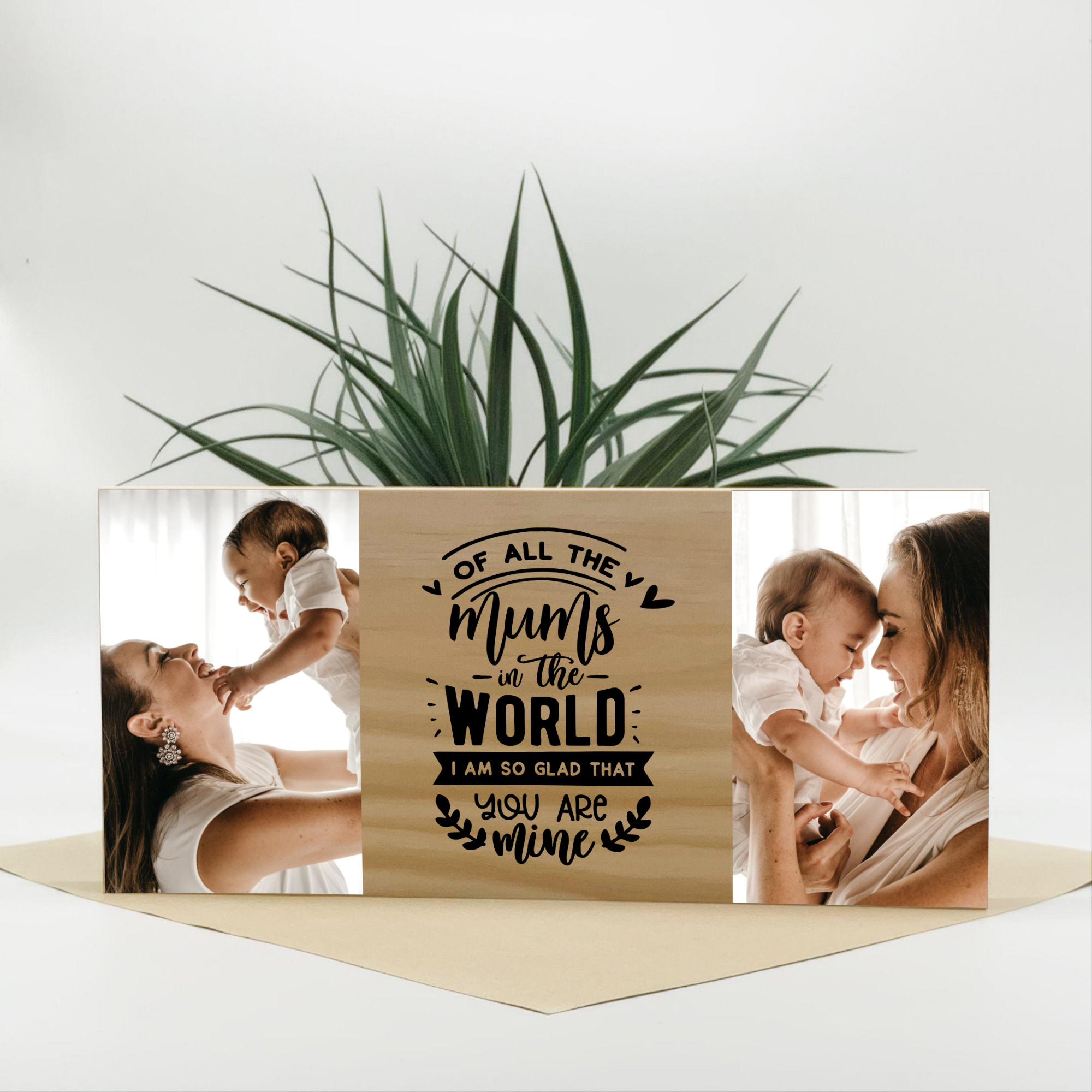 personalised mothers day gift, mothers day photo block