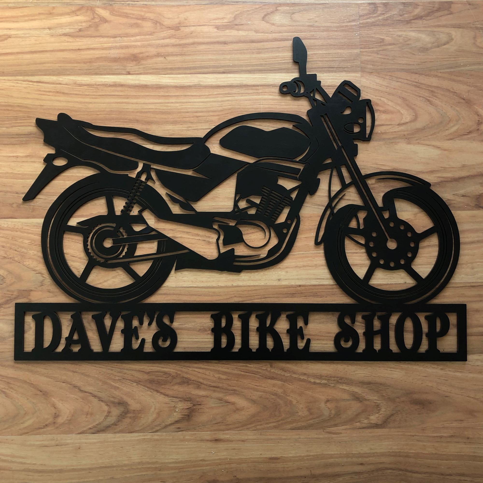 Biker mancave sign, laser cut man cave sign, personalised man cave sign