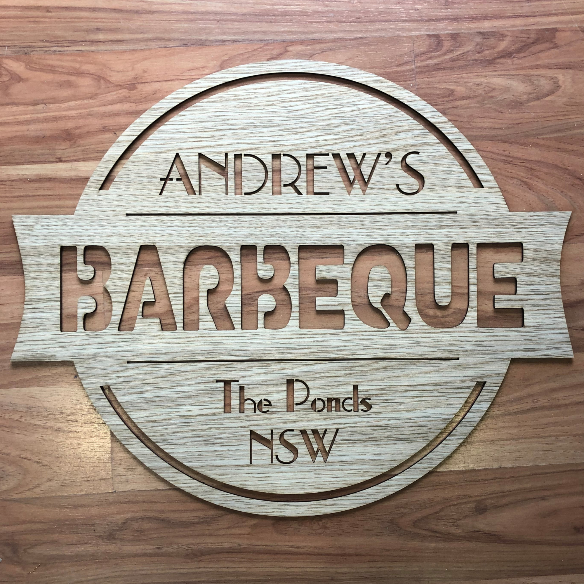 personalised barbeque sign, laser cut man cave sign, personalised man cave sign
