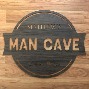persoonalised mancave sign, laser cut man cave sign, personalised man cave sign