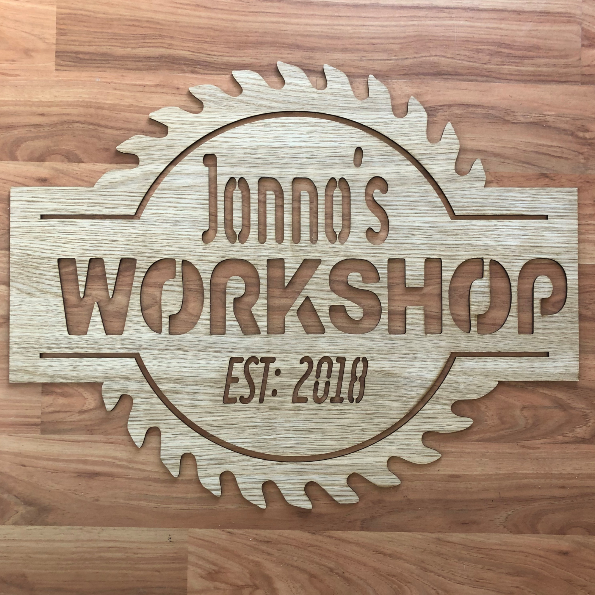 custom workshop sign, laser cut man cave sign, personalised man cave sign