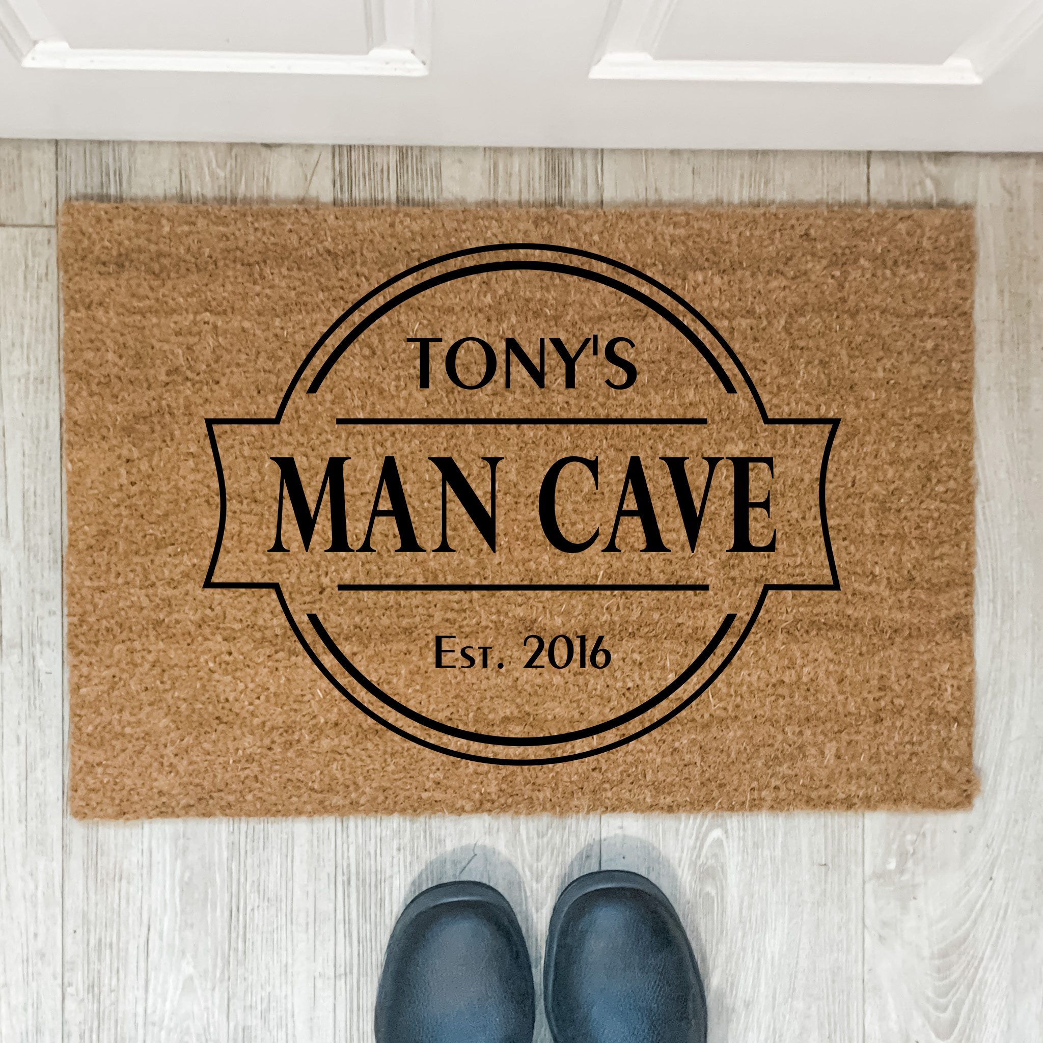 man cave door mat, custoom mancave sign