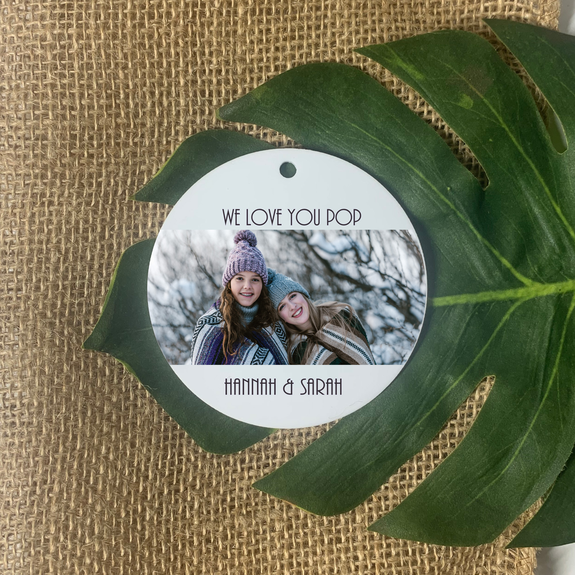 personalised ornament, photo ornament