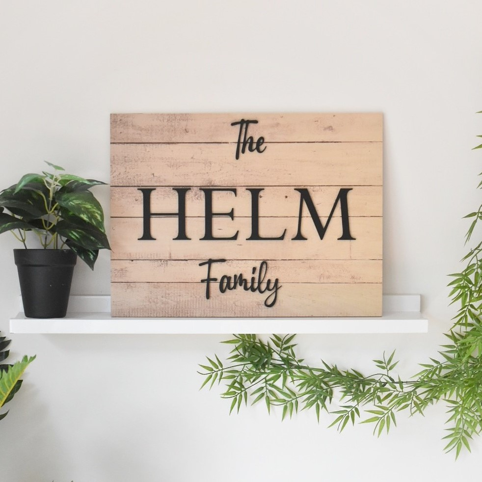 wood-and-acrylic-sign-3D-wood-sign-wood-family-name-sign