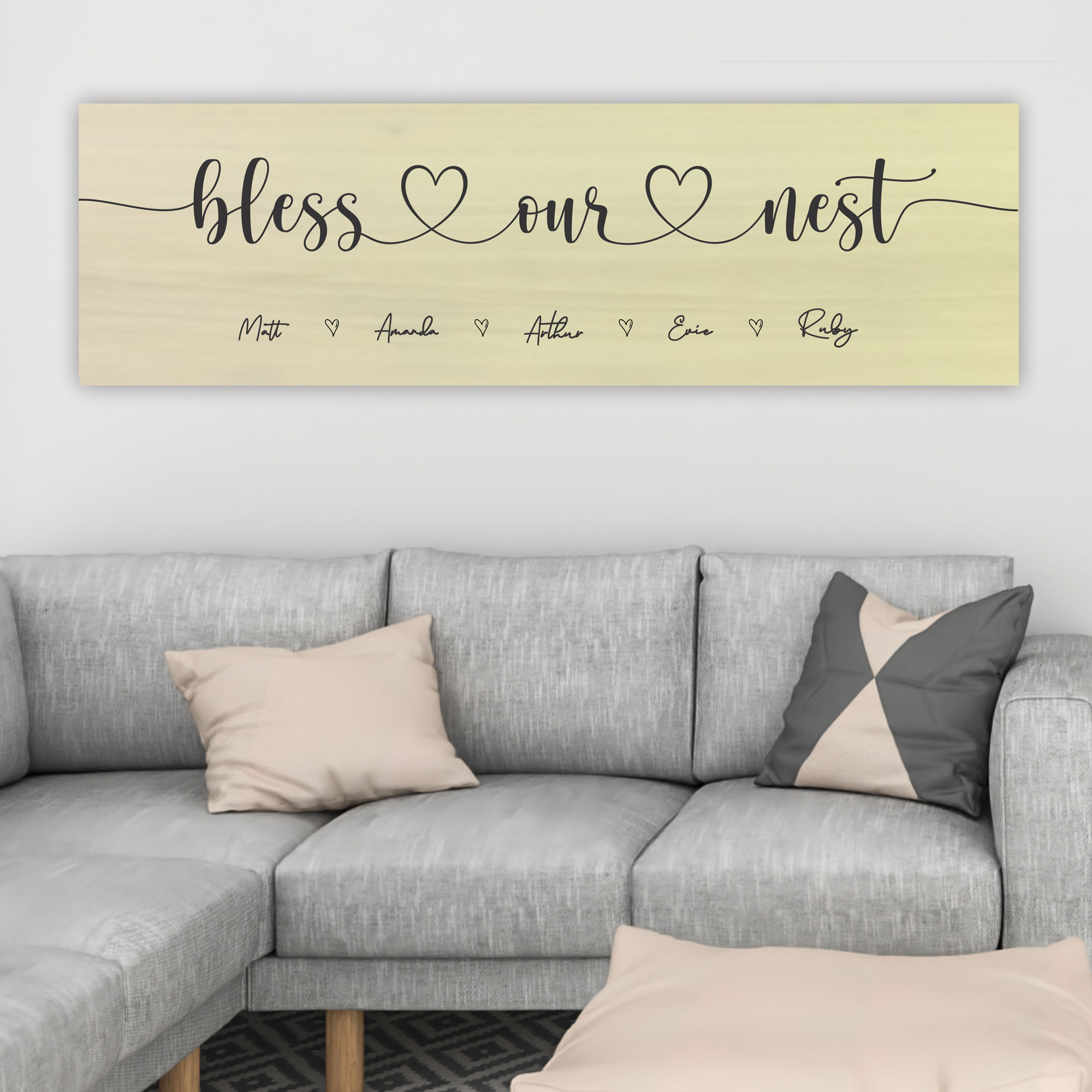 BLESS OUR NEST WOOD SIGN