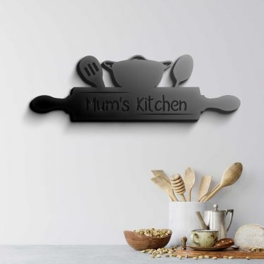 LASER CUT KITCHEN SIGN, PERSONALISED KITCHEN SIGN