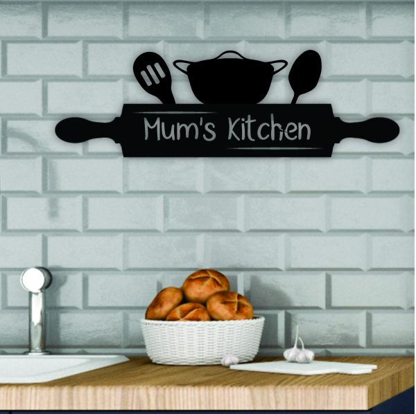 laser cut kitchen sign, personalised mothers day sign