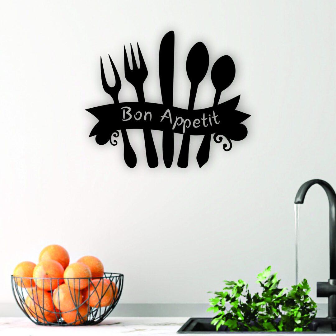 laser cut kitchen sign, bon appetit sign