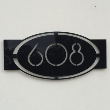 house number sign, address sign