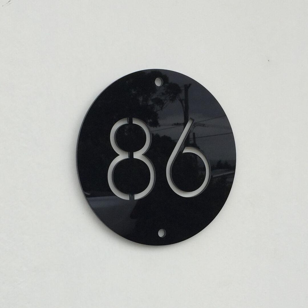 house number sign, address sign