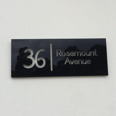 address sign, house number sign
