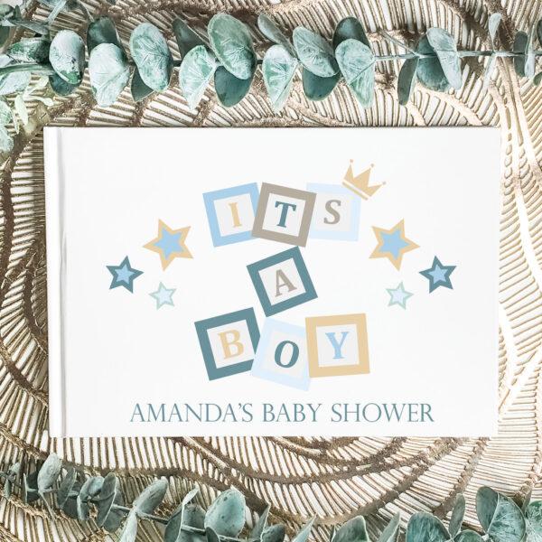 baby shower guest book, its a boy guest book
