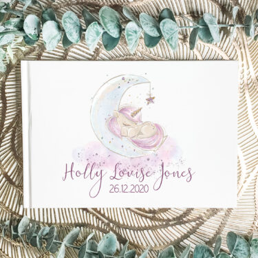 baby guest book, christening book