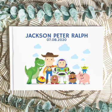kids guest book, first birthday book
