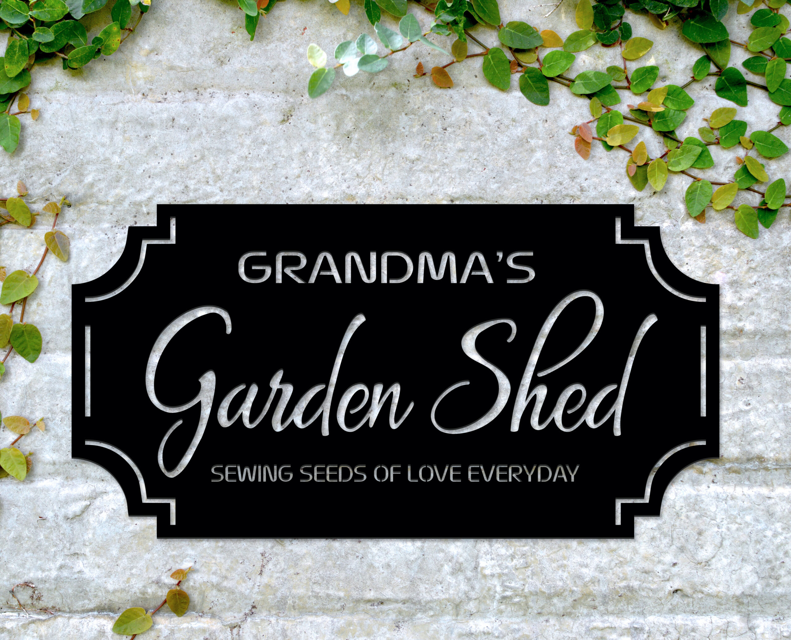 garden shed sign, personalised garden sign