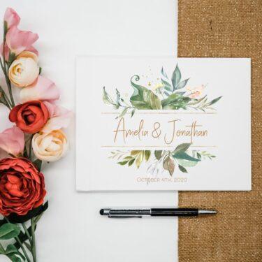 wedding guest book, custom wedding guest book
