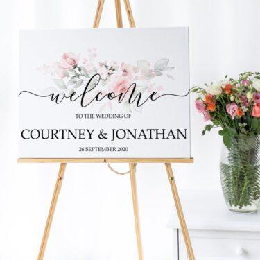 wedding welcome sign, custom wedding sign