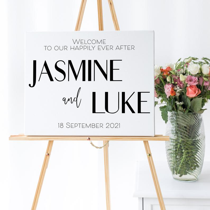 wedding welcome sign, custom welcome sign