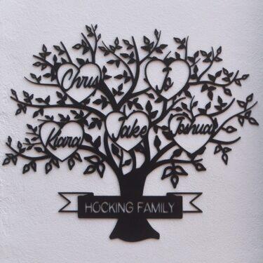 family tree name sign, laser cut family tree