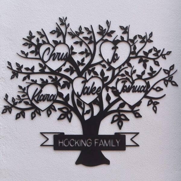 family tree name sign, laser cut family tree