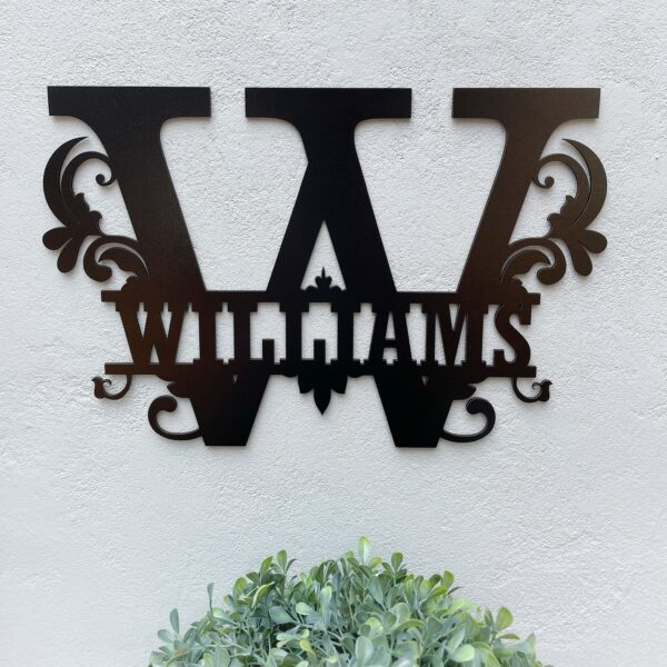 family name sign, laser cut family name