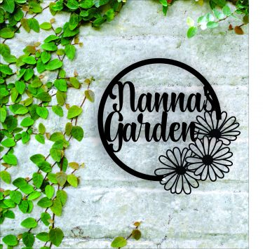 laser cut garden sign, personalised garden sign