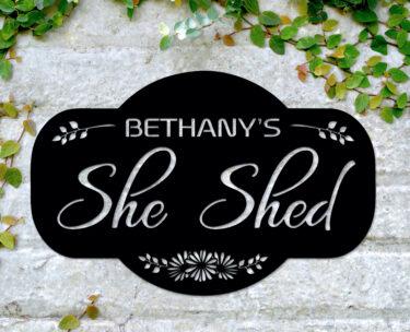 she shed sign, pesonalised shed shed