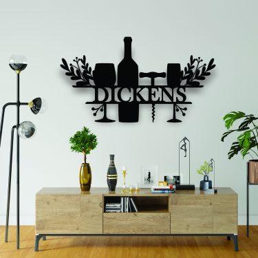 laser cut name sign, wine sign