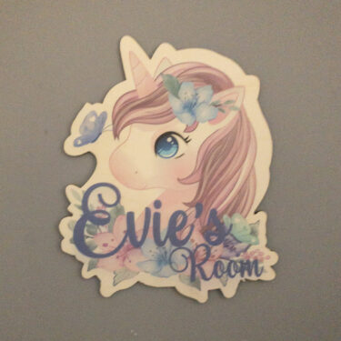 unicorn door sign, unicorn room sign