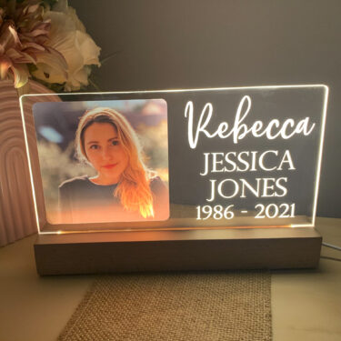 memorial plaque, memorial keepsake