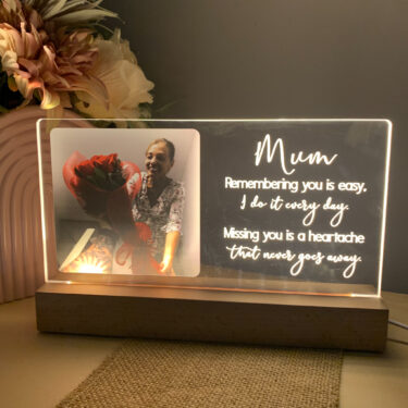 memorial photo plaque, memorial keepsake