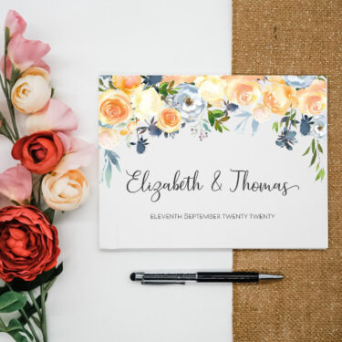 yellow-floral-guest-book
