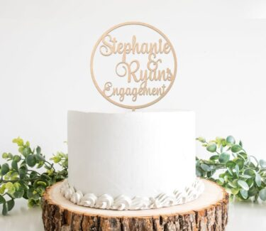 engagement-cake-topper