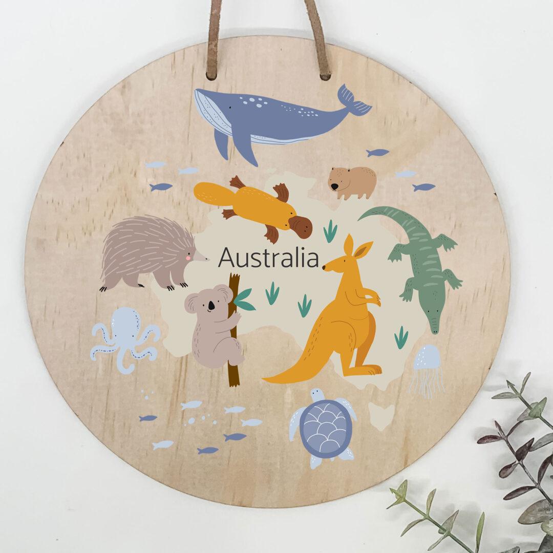australia map kids