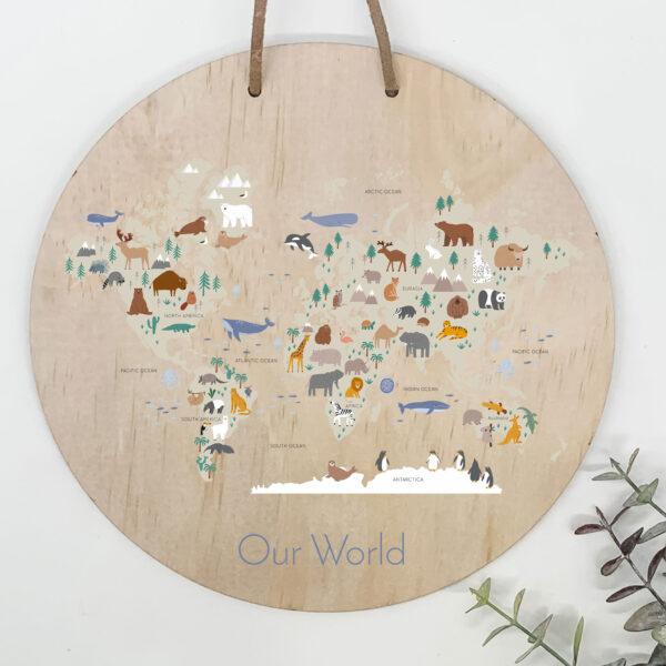 childrens world map