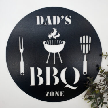 personalised bbq sign, laser cur bbq sign