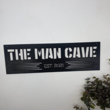personalised man cave sign, laser cut man cave sign