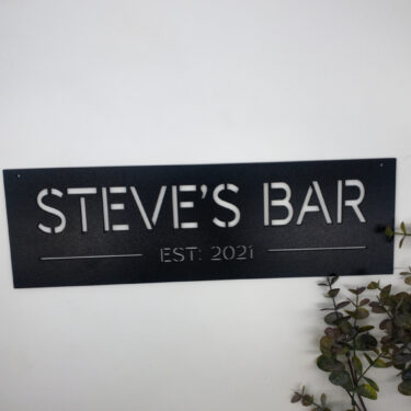 personalised bar sign, laser cut sign.