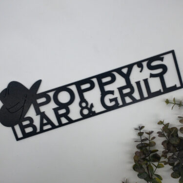 personalised bar sign, laser cut sign