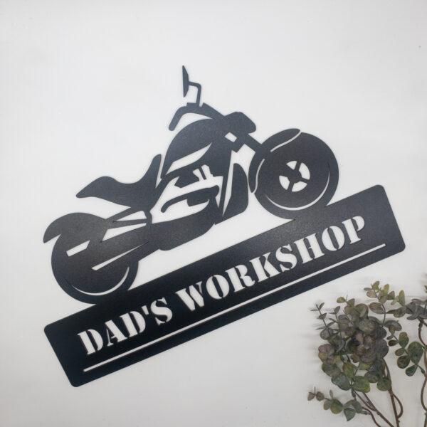 harley bike sign, laser cut personalised sign